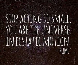 quotes, universe, and Rumi image