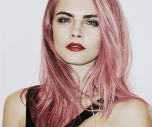 hair, pink, and delevinge image