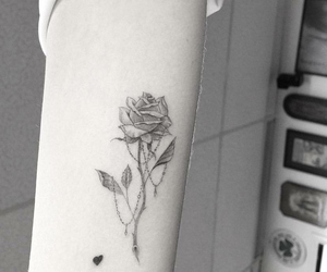 arm, black and white, and heart image