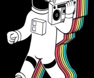 80's, aesthetic, and astronaut image