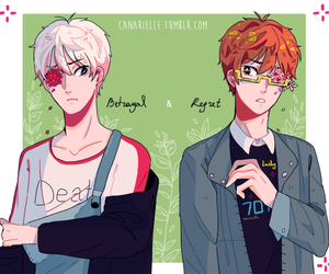 seven, mystic messenger, and saeyoung image