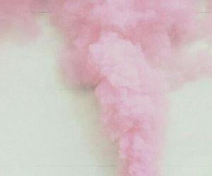 pink, smoke, and pastel image