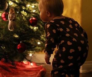 christmas, baby, and christmas tree image