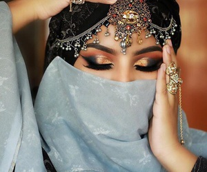 hijab and makeup image