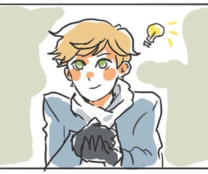 Adrien, marinette, and Chat Noir image