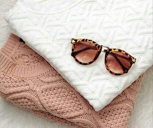 fashion, sweater, and sunglasses image