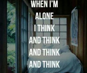 alone, background, and think image