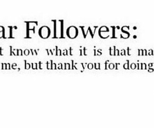 dear, followers, and doing image