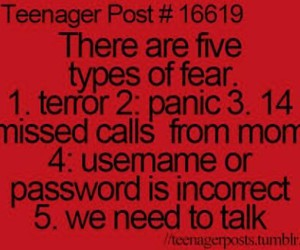 funny, teenager post, and fear image