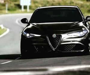 alfa romeo, black, and car image