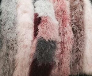 pink, rose gold, and fur image