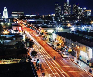 los angeles and night image