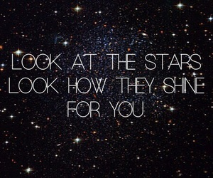 stars, coldplay, and love image