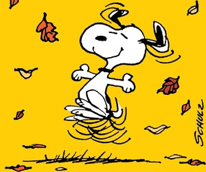 snoopy and autumn image
