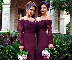 bridesmaid dresses, dress, and burgundy bridesmaid dress image
