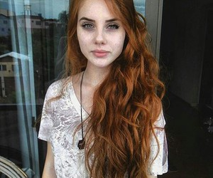 girl, redhead, and ginger image