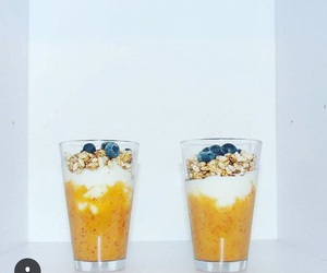 blueberries, breakfast, and fruit image