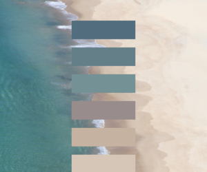 beach, sea, and colors image