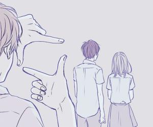 orange, anime, and background image