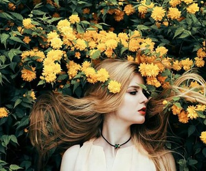blonde, photo, and flowers image