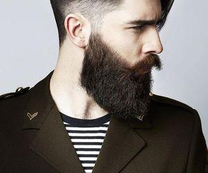 beard, hair, and man image