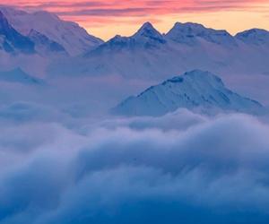 montanhas, nuvens, and paisagem image