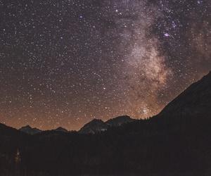 brilho, escuro, and estrelas image
