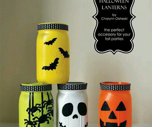 decor, lanterns, and Halloween image
