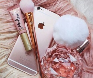 gold, makeup, and pink image