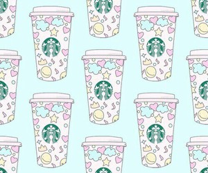 starbucks, pattern, and wallpaper image