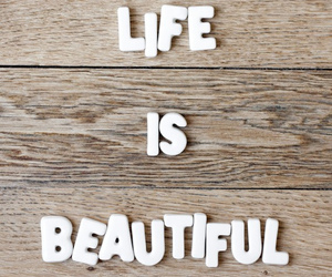 life, wood, and life is beautiful image