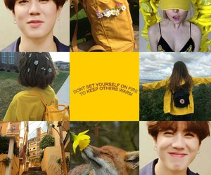 gold, asthetic, and got7 image