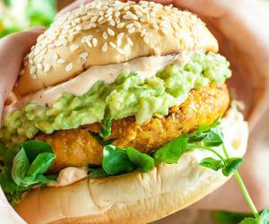 food, avocado, and burger image