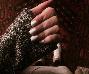 fall, nails, and white image