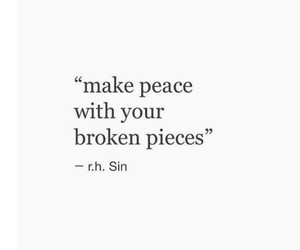 quotes, peace, and broken image