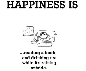 book, tea, and happiness image
