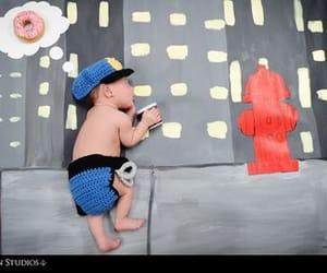 donuts, newborn photography, and newborn image