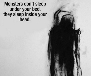 monster, dark, and sad image