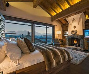 mountain, bedroom, and room image