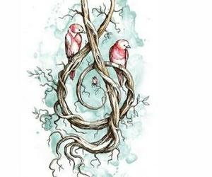 bird, music, and art image