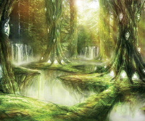 fantasy, forest, and indians image