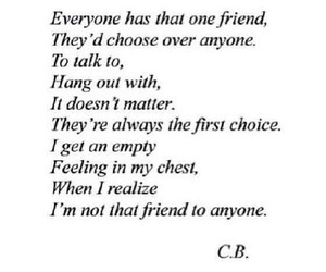 and, i am not that friend, and i don't have that friend image
