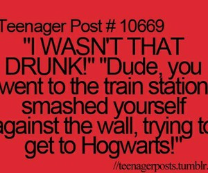 funny, drunk, and hogwarts image