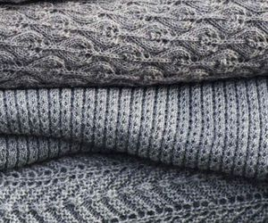 sweater, grey, and winter image