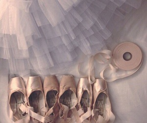 ballerina, ballet, and pointe shoes image