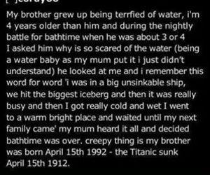 titanic, creepy, and film image