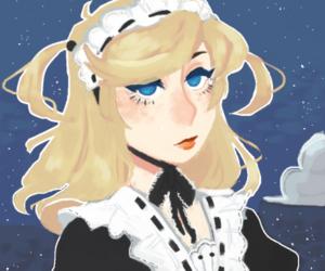 anime, anime girl, and maid image