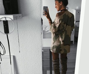 girl, shoes, and ootd image