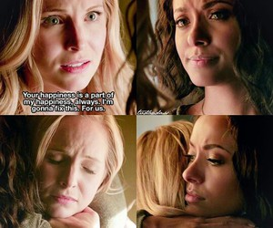 the vampire diaries, caroline forbes, and bonnie bennett image