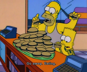 the simpsons, food, and eat image